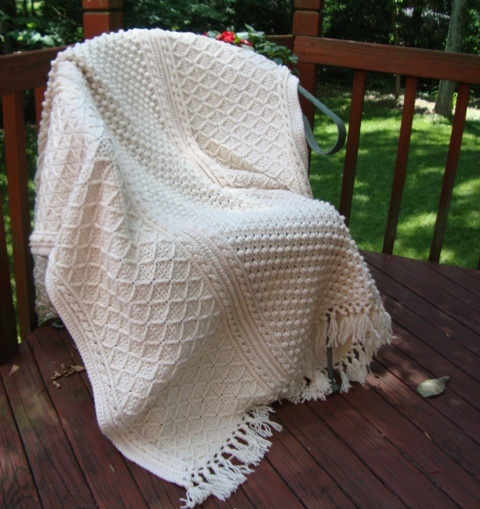 Crochet Afghan Pattern Wedding Gift : Aran Fisherman Crochet Afghan I Love Afghans Pinterest