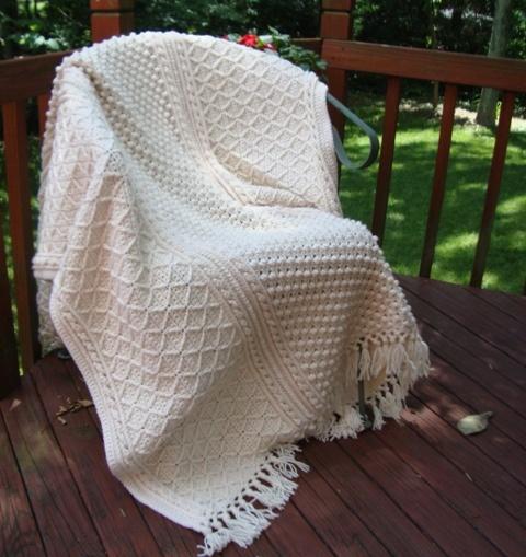 Crochet Afghan Pattern Wedding Gift : Aran Fisherman Crochet Afghan I Love Afghans Pinterest