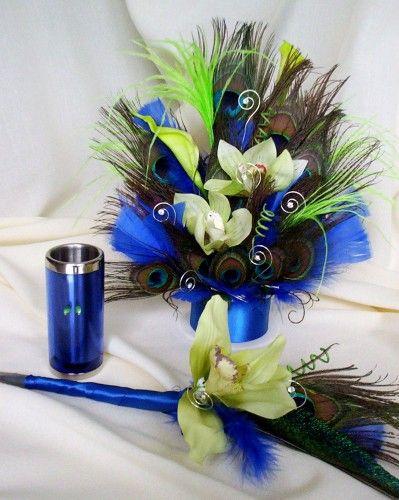 Amorebride Original Pea Cake Topper Weddings Royal Blue Lime Green