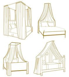 10 Ways To Get the Canopy Look Without Buying a New Bed - probably something a little girl would love. :) Or maybe a little boy if done with tent fabric, etc.