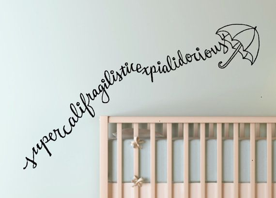 Mary Poppins whimsical Custom Vinyl Wall Decal by WelcomingWalls, $22.00
