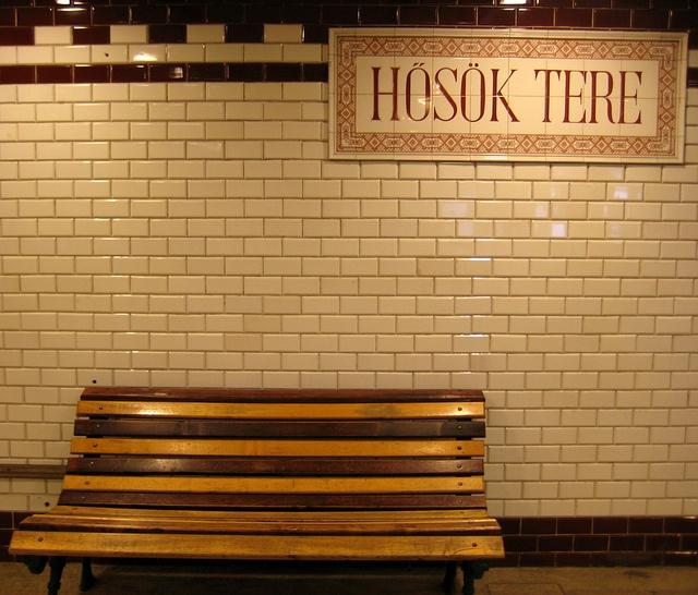 Hero's Square. Budapest Metro