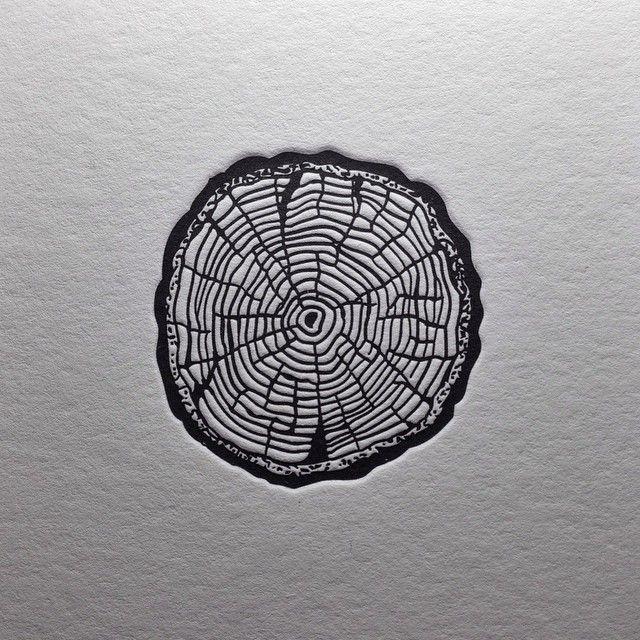 """RINGS"" My little sketch turned into letterpress... |"