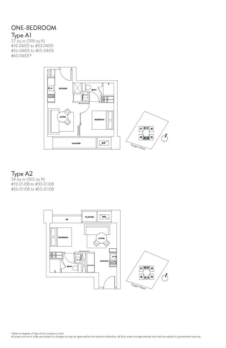 Skysuites at Anson 1 Bedroom Floor Plan A1 A2 Keith Tan Boon Kee 97501055