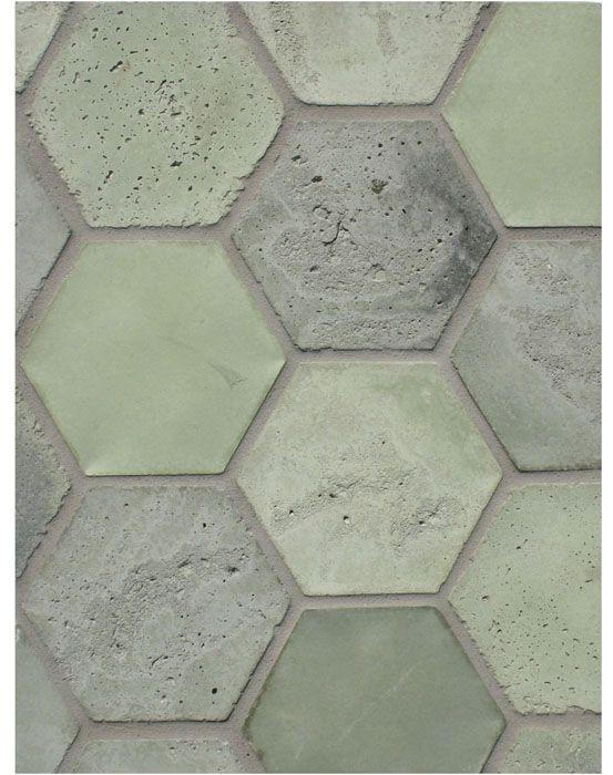 BB175 6'' Hexagon Los Verdes Vintage tiles, by Arto Brick & Tile. Made in Los Angeles, CA.