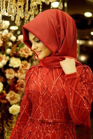 Yağmur Kırmızı Abiye Pınar Şems