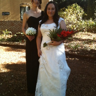 """Wow what a beautiful bride. This was Tess. ( better known to us as """"the famous Mrs Hayes"""" when she married Cameron at Lisson Grove on Saturday. Tamborine Mountain provided the perfect spring day."""