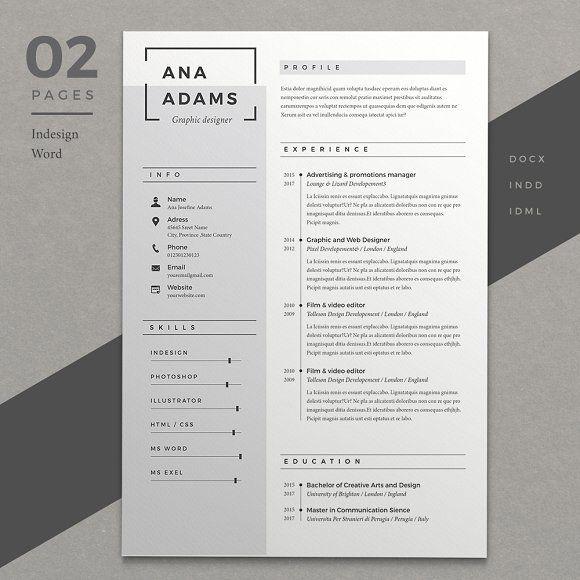 Resume Ana by Estartshop on @creativemarket