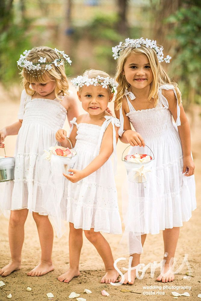 Tammy & Ryan had 3 very precious flower girls at their wedding in Playa Grande