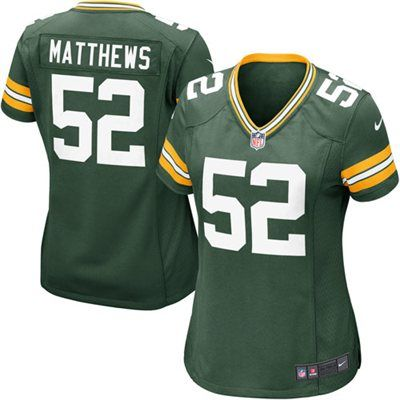 Nike Clay Matthews Green Bay Packers Women's Green Game Jersey
