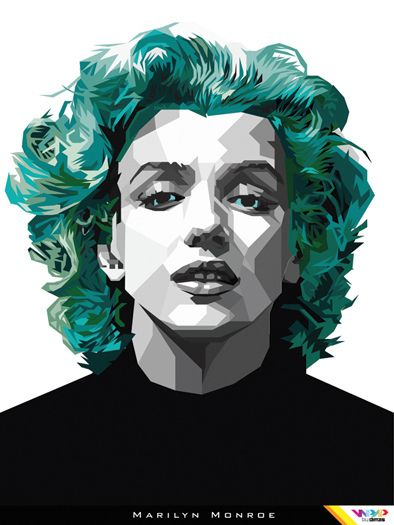 MARYLIN MONROE in WPAP (Wedha's Pop Art Portrait) By Dimas