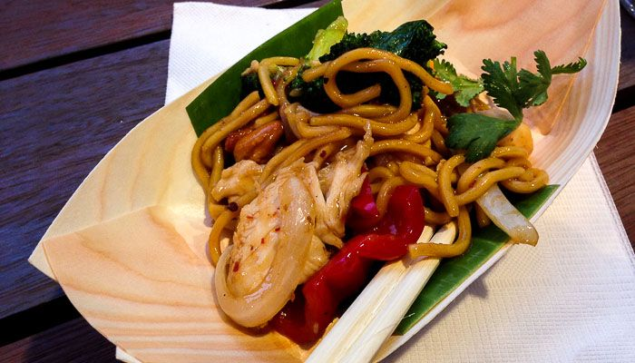 Cashew Nut Chicken Noodles at Wok On Inn at The Rocks, Sydney.