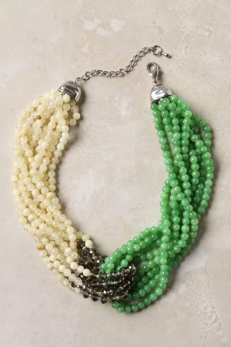 !: Twists Necklaces, Colors Combos, Citrus Twists, Statement Necklaces, Beads Necklaces, Statementnecklac, Chunky Jewelry, Kelly Green, Chunky Necklaces