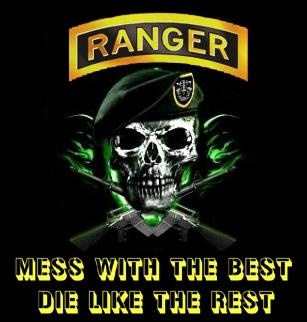 US Army Ranger....I at least did something with my life...I have documentation of being an Army Ranger, a reserve police officer, a bartender, a self defense instructor...same old woman that has nothing better to do than try to destroy other people because that is what she learned from her mother doing to her father.