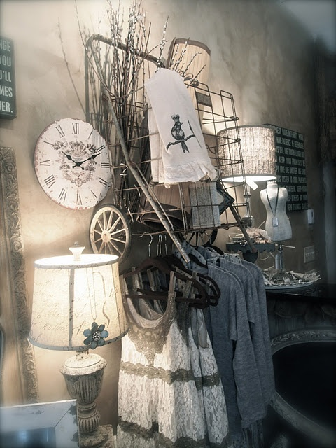 clever way to hang clothing display inspiration
