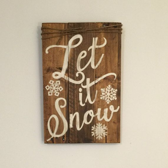 Let It Snow Sign Christmas Sign Winter Porch Sign