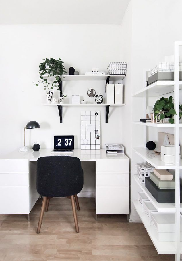 Outstanding 17 Best Ideas About White Office On Pinterest White Office Decor Largest Home Design Picture Inspirations Pitcheantrous