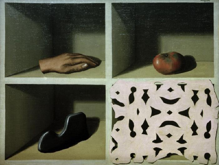 'Le musée d'une nuit' Magritte, René 1898-1967. 'Le musée d'une nuit' (Das Museum einer Nacht), 1927. Öl auf Leinwand, 50 x 65 cm. London, Privatsammlung. E: 'Le musée d'une nuit' Magritte, René 1898-1967. 'Le musée d'une nuit' (Relics of the night), 1927. Oil on canvas, 50 x 65 cm. Private collection. F: 'Le musée d'une nuit' Magritte, René ; 1898-1967. - 'Le musée d'une nuit', 1927. Huile sur toile, H. 0,50 ; L. 0,65. Londres, coll. privée. MONDADORI PORTFOLIO/AKG Images