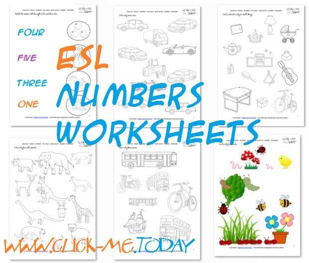 Free Printable Esl Numbers Worksheets Esl Activities Numbers Preschool Number Activities Preschool Numbers Kindergarten Numbers worksheets for kindergarten esl
