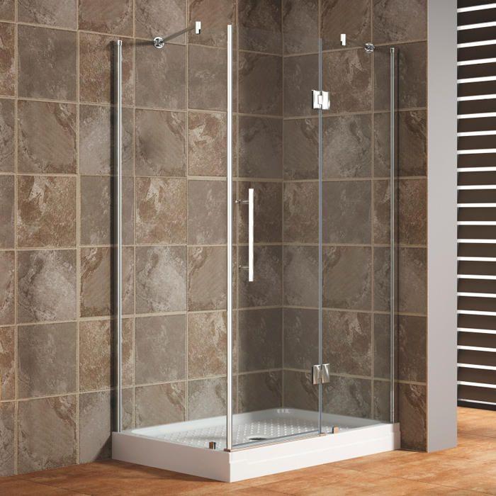 "45"" x 31"" Egan Corner Shower Enclosure With Sliding Door - Glass Shower Enclosures - Shower - Bathroom"