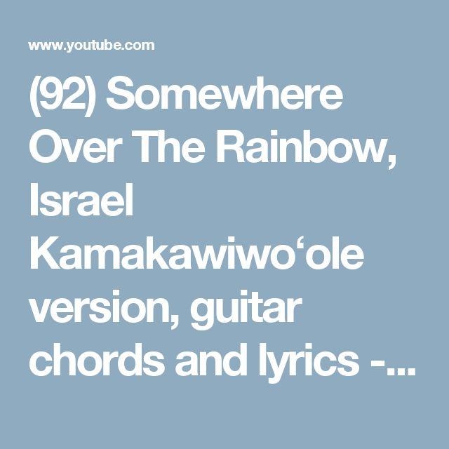somewhere over the rainbow lyrics and chords pdf
