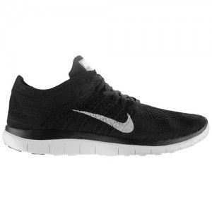 Nueva Venta Al Por Mayor Zapatos Nike Free 4.0 Flyknit Mujer 90910-779 Negro/Gris Oscuro/Blanco Zapatillas running