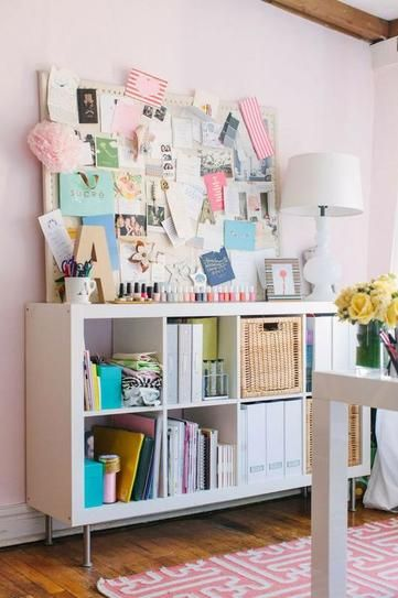 display nail polish in front of your pinboard