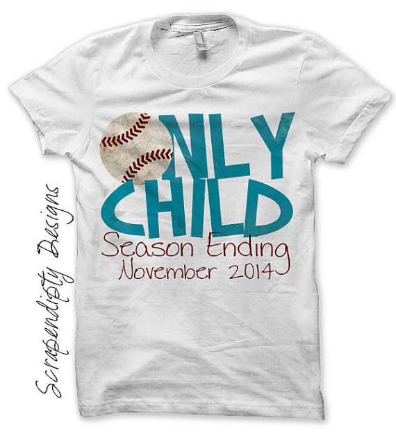 Iron on Only Child Shirt PDF - Announcement Iron on Transfer / Only Child Season Ending / Big Brother Baseball Shirt / Kids Clothing by ScrapendipityDesigns, $4.50