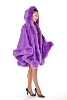 100% Fur Trimmed Cashmere Capes are sold at MadisonAveMall! $795