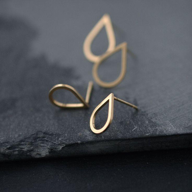 Small droplette Vermeil or Silver studs earrings by Minicyn, €43.00