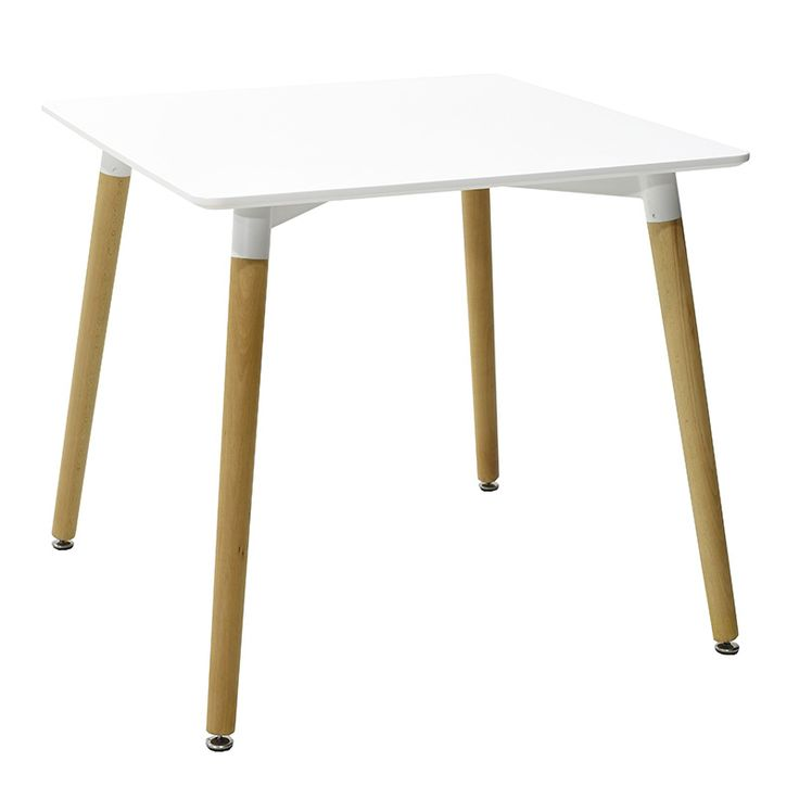 Square table Natali MDF top white 80x80x73