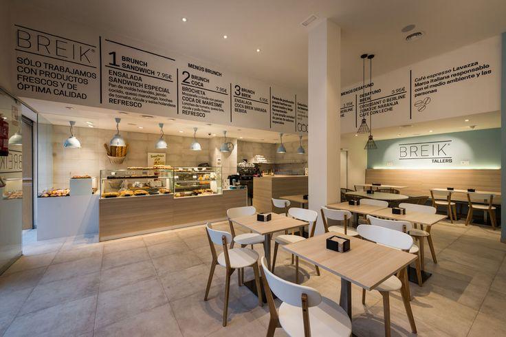 Cafetería degustación Breik Barcelona. Diseño: Carolina Luzón y Luis Ruiz. Obra: Standal #interiorismo #comercial #cafetería