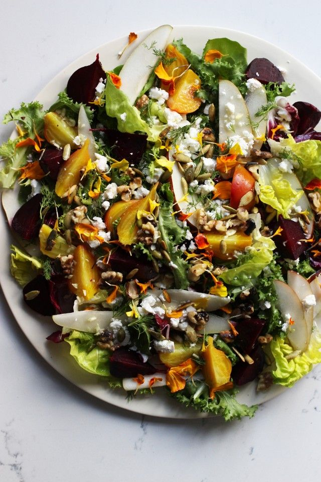Asian pear beet salad