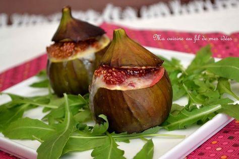 Figues farcies au gorgonzola et miel papilas figues - Cuisiner des figues fraiches ...