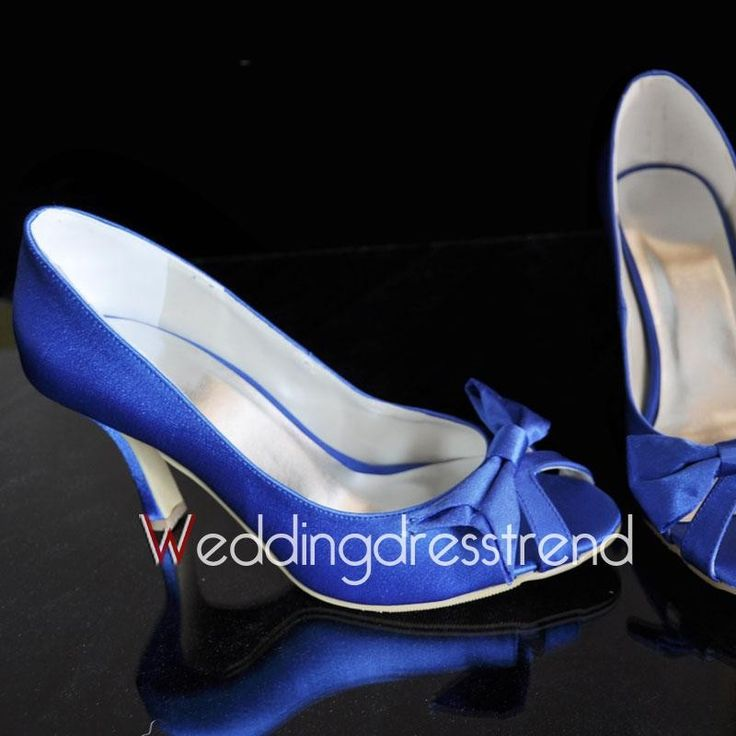 [$60.89] Satin Upper Stiletto Heel Peep Toe with Bowknot Wedding Shoes