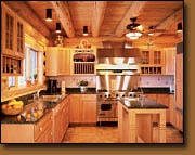 installation example of Dura-Groove cedar tongue and groove paneling.