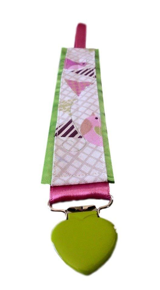 Attache Sucette,Tétine, Tutute Tissu Coton Oiseaux 100 % Personnalisable : Puériculture par mamzellecrea17