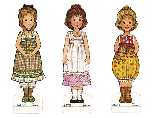The Gingham Girls - Paper Dolls, I had this coloring book when I was little