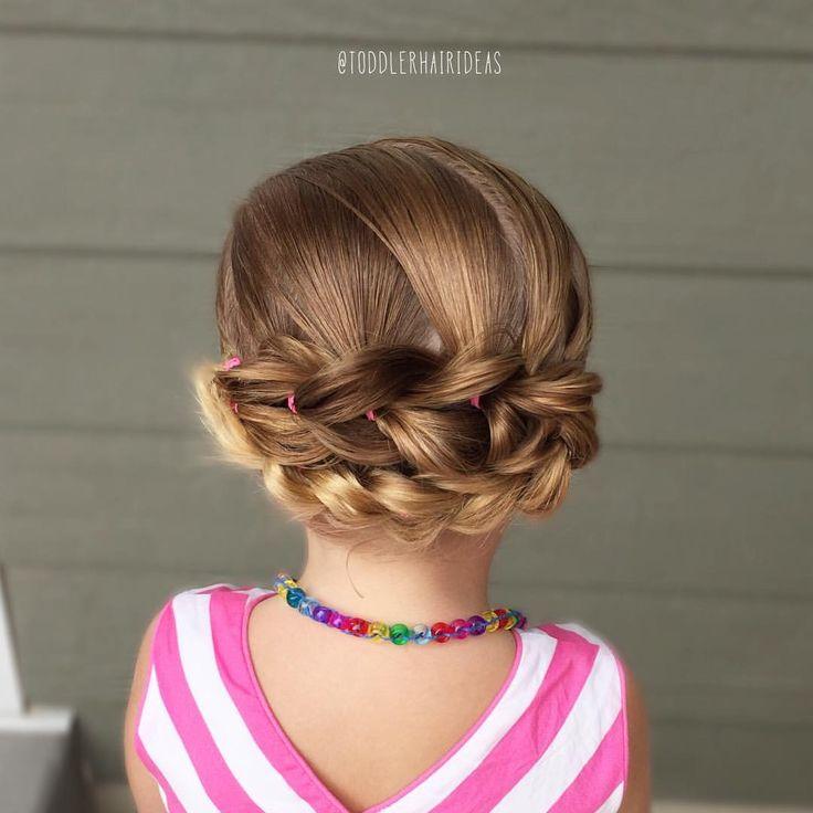 Pull through braid up do toddler hair ideas