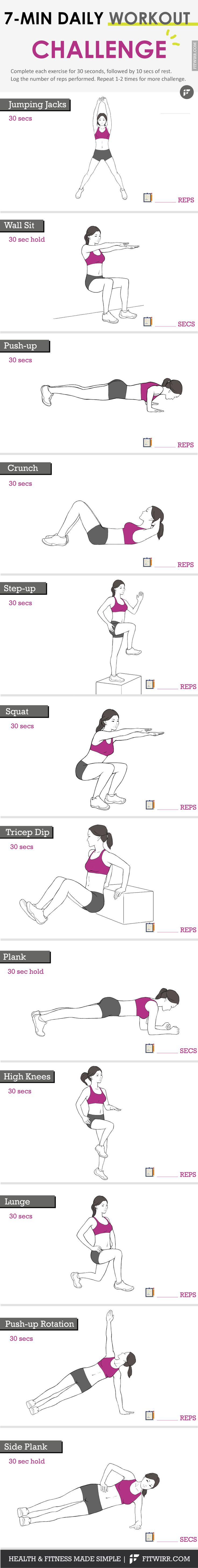 7-minute daily workout challenge