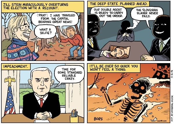 """Fusion, the liberal news site aimed at millenials and multiculturals and created by the Spanish-language Univision network in 2013, has joined those who think toying with the idea of assassinating Donald Trump is acceptablepolitical speech. The site posted a four-panel cartoon Thursday by Matt Bors titled, """"The best case scenarios under Trump,"""" one of which […]"""