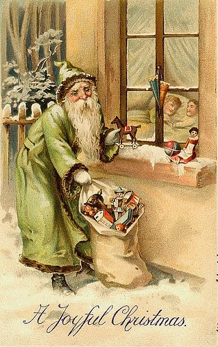 https://flic.kr/p/7jjmw8 | Vintage Christmas/Santa Claus Postcard | Free to use in your Art, not for Sale on a Collage Sheet or a CD