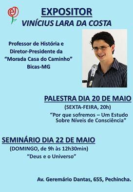 O Centro Espírita de Jacarepaguá Convida todos para o seu Seminário - Pechincha - RJ - http://www.agendaespiritabrasil.com.br/2016/05/21/o-centro-espirita-de-jacarepagua-convida-todos-para-o-seu-seminario-pechincha-rj/