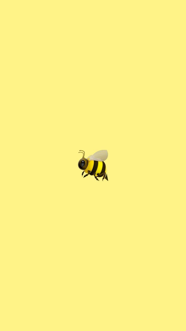 Bee wallpaper | Emoji wallpaper iphone, Iphone wallpaper ...