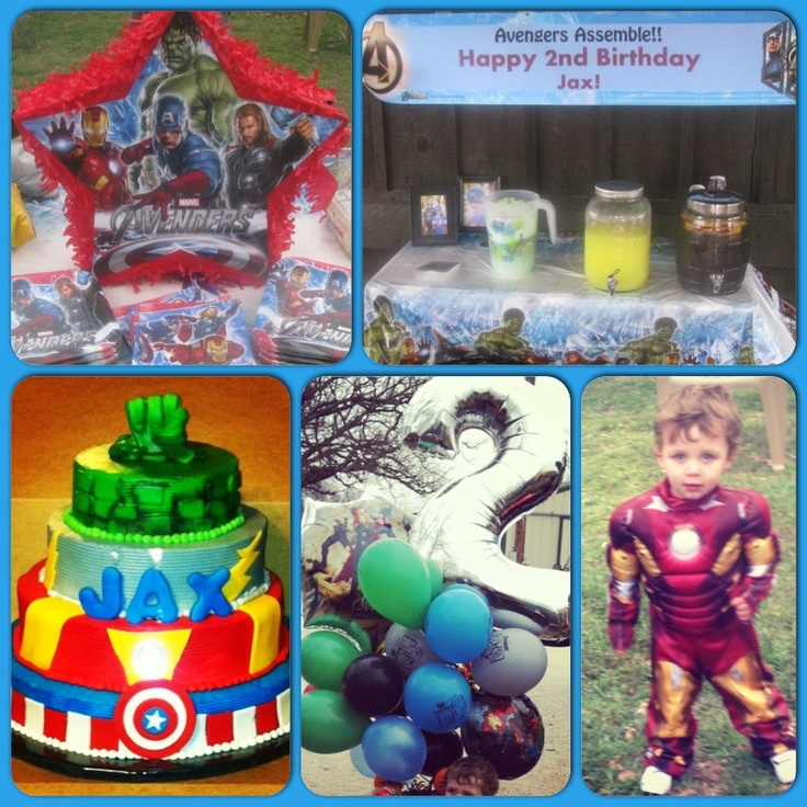2nd birthday. Avengers! Costume party! Hulk punch, super dogs, tattoos, retro comic book dart board, pin the shield. I couldn't use 1/2 my decorations because of the wind but still a great party!