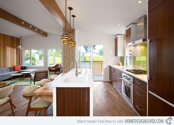 15 marvelous mid century kitchen designs