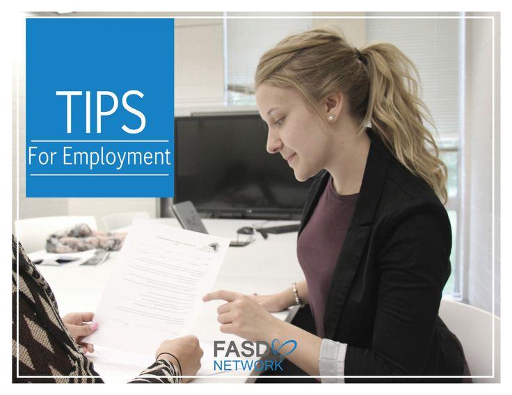 FASD Tips  & Strategies for Employment #FASD