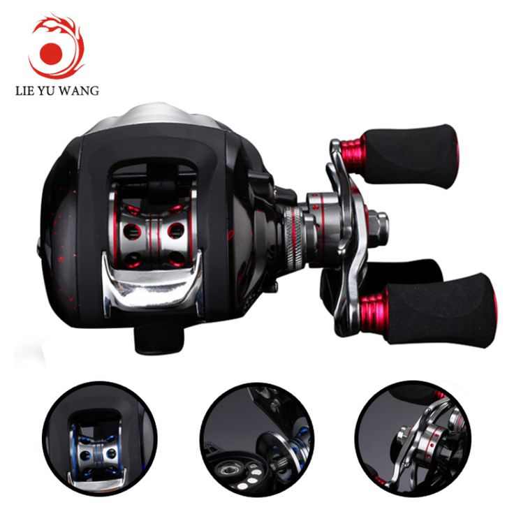 Lieyuwang 6.3:1 12 1BB Bait Casting Carp Fishing Reels Feeder Fishing Reel Carretilha de pesca molinete Right Left Hand shimano olta fishing quote ** Find out more on AliExpress website by clicking the image