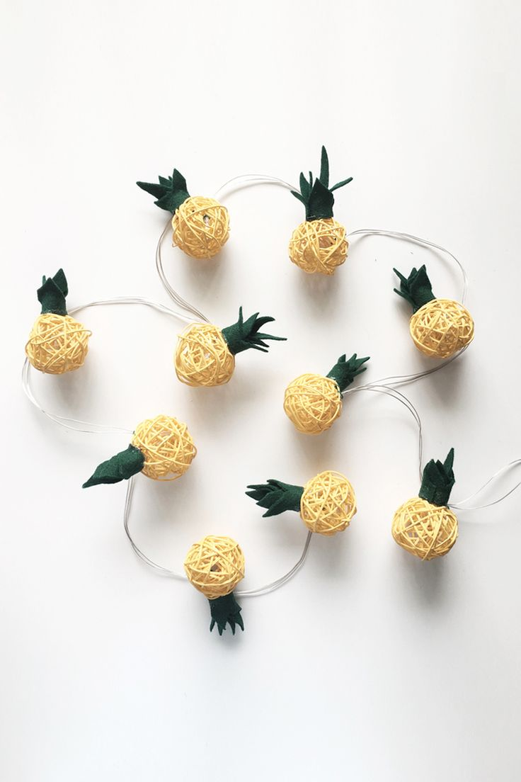 DIY Pineapple String Lights