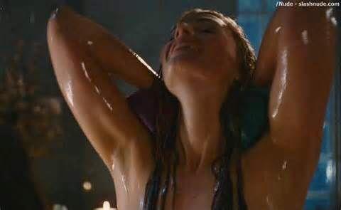 naked woman see through panties